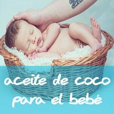 aceite de coco para los bebés