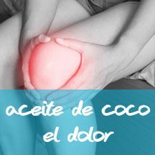 aceite de coco para aliviar el dolor