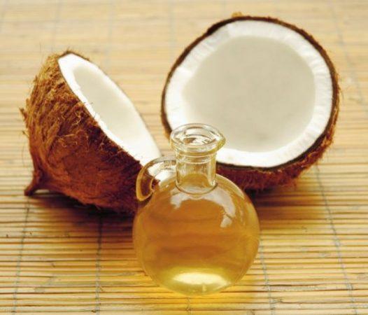 aceite de coco y coco