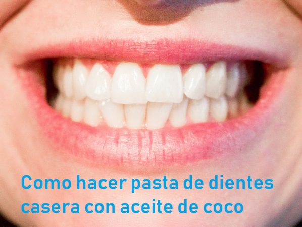 Pasta dental a base de aceite de coco