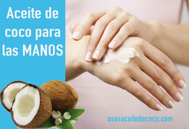 aceite de coco para las manos
