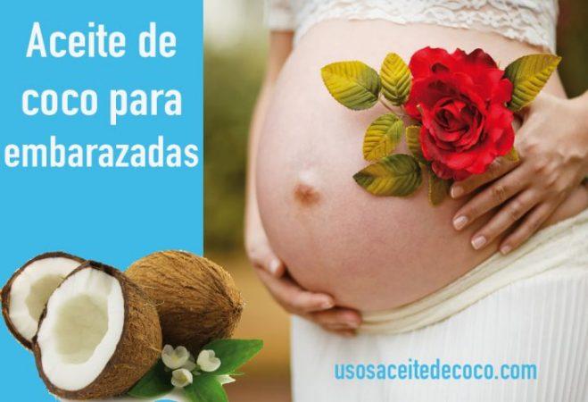 Aceite de coco para embarazadas y el periodo de lactancia