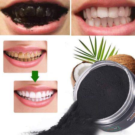 Polvo blanqueador de dientes,Blanqueador Dental de Carbón Activado,Blanqueamiento de dientes