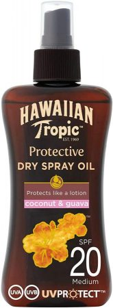 HAWAIIAN Tropic Protective Aceite Seco Bronceador Spf 20 Aceite seco bronceador en spray de Hawaiian Tropic
